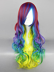 Lolita Wigs Punk Lolita Color Gradient Long Yellow Lolita Wig 70 CM Cosplay Wigs Patchwork Wig For Women
