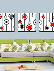 Stretched Canvas Art Abstract Circle Set of 3
