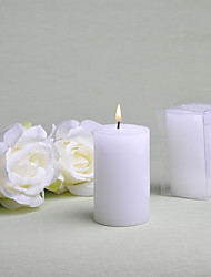 Simple Round White Candle Favor (Set of 6)