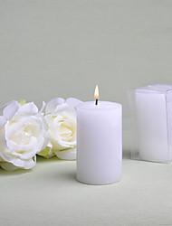Tema Clássico Favores da vela-6 Piece / Set Velas Não-Personalizado Branco