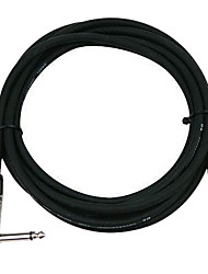 DT - (DFSA220-6H) 6 Meters Guitar Cable with Plastic Plug (Soft Flexible Low attenuation Micro-bubbles)