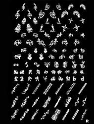 Ногтей штамп штамповка изображения шаблона плиты животных
