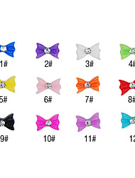 20PCS 3D Resin Rhinestone Bowknot Nail Decorations Cartoon No.5(Assorted Colors)