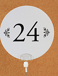 Place Cards and Holders Simple Round Table Number Card (set of 10)