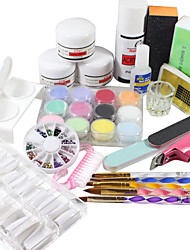 19PCS Acrylic Powder Nail Art set