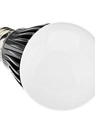 Dimmable E27 5W 100-400LM 5800-6500K Natural White Light Black Shell LED Ball Bulb (220-240V)