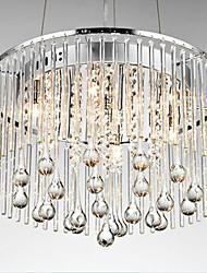 Elegant Luxury 6 Light Pendant with Aesthetic Stilliform Glass Rod
