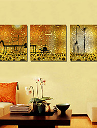 Stretched Canvas Art Abstract Animal Set of 3