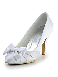 Pretty Satin Stiletto Heel Pumps with Bowknot Wedding Shoes(More Colors)
