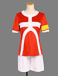 Cosplay Costume Inspired by Inazuma Eleven Tenma Matsukaze Red NO.11 Soccer Uniform