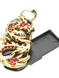 16GB Metallo Golden Dragon USB Flash Drive