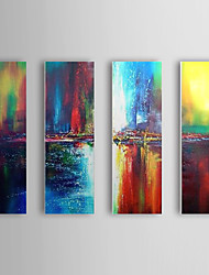 Hand Painted Oil Painting Abstract Set of 3 1307-AB0498