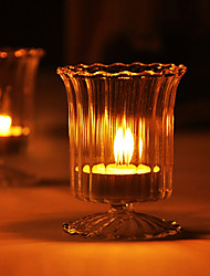 Wedding Décor Simple Wine Glass Shaped Candle Holder