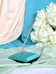 Peacock Blue Wedding Pen Set Sign In Book