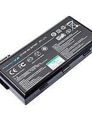 Bateria de 4400mAh para MSI BTY-L74 BTY-L75 MS-1682 A5000 A6000 91NMS17LD4SU1 (11.1V, Black)