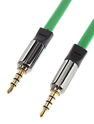 3.5mm macho a macho Cable de conexión de audio verde de oro (1,2 m)