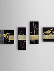 Hand Painted Oil Painting Abstract Set of 4 1307-AB0497