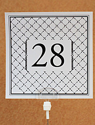 Place Cards and Holders Square Table Number Card (set of 10)
