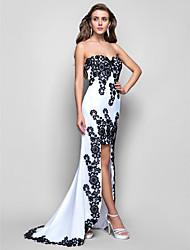 Formal Evening/Military Ball Dress - White Trumpet/Mermaid Strapless/Sweetheart/Spaghetti Straps Asymmetrical Chiffon