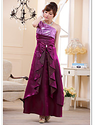 Plus Size One Shoulder Pailletten Maxi Full Dress