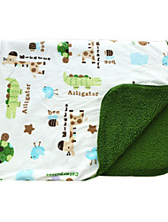 Supersoft peluche courte + Lamb Double couche imprimée Tortue Baby Blanket