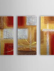 Handgemaltes Ölgemälde Abstrakt mit gestreckten Rahmen von 3 1307-AB0408 Set