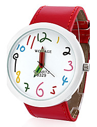Dames Modieus horloge Kwarts PU Band Cartoon Rood Merk-