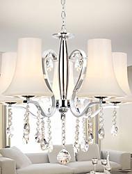 Lustre de cristal modernos 5 luzes com tons