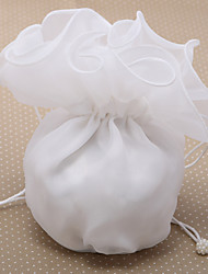 Polyester With Imitation Pearl Wedding Bridal Money Bag