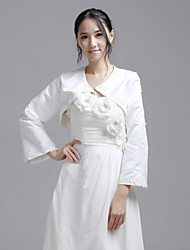 Wedding  Wraps Coats/Jackets Long Sleeve Satin White Wedding / Party/Evening / Casual Bell Sleeves Clasp