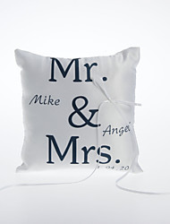 Personalized Satin Ring Pillow