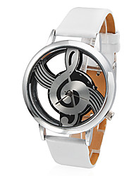 Women's Watch Fashion Hollow Musical Note Style Dial Cool Watches Unique Watches Strap Watch