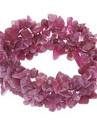 Roxo Crystal Jade pulseira elástica