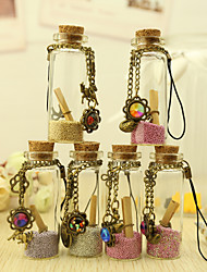 Nice Wish Bottle Cell Phone Charms - Set of 6 (Mixed Design,More Sizes)