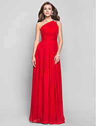 TS Couture® Formal Evening / Prom / Military Ball Dress - Ruby Plus Sizes / Petite Sheath/Column One Shoulder Floor-length Chiffon
