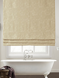 Elegant Leaves Embossed Blackout Roman Shade
