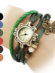 Femme Quartz Bande bracelet Noir / Bleu / Rouge / Orange / Marron / Vert
