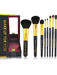 Make-up For You® 9pcs Makeup Brushes set Goat/Wool Hair  Limits bacteria/Professional Blush/Eyeshadow/Brow/Eyeliner/Concealer/Powder Brush High-grade