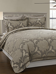 3-teiliges Modern Style Deep grau Jacquard Bettbezug Set