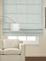 Classic Light Blue Cotton Roman Shade