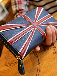 Ocidental UK Flag Padrão Wallet Vintage
