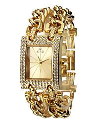 Diamante modem analogique Quartz Or Steel Band Montre-bracelet de la femme (couleurs assorties)