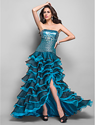 A-line/Princess Sweetheart Asymmetrical Organza Evening/Prom Dress