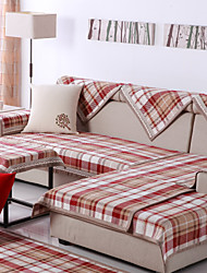 Cotton English Style Check Sofa Cushion 85*180