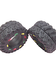 Tire forma di con Colorful ossa modello di gomma Squeaking giocattolo per animali Cani
