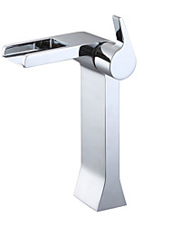 Bathroom Sink Faucets Countertop Waterfall Chrome