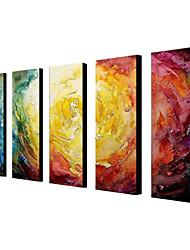 Peint à la main Abstrait Peintures à l'huile,Moderne Cinq Panneaux Toile Peinture à l'huile Hang-peint For Décoration d'intérieur