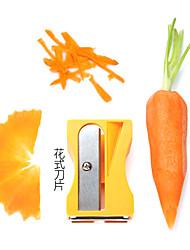 apontador de lápis forma de fruta e descascador de legumes