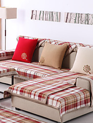Cotton English Style Check Sofa Cushion 70*150