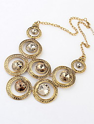 Exotic Alloy With Rhinestone Women's Necklace(More Colors)